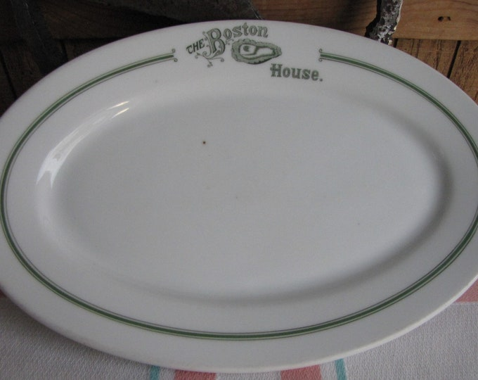 Vintage The Boston House Platter Burley & Co.