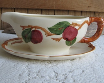 Franciscan Apple Gravy Boat Gladding McBean Vintage Dinnerware and Replacements 1953-1958 Imperfections