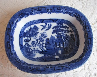 Blue Willow Allerton Bone Dish Vegetable Bowl Vintage Dinnerware and Replacements