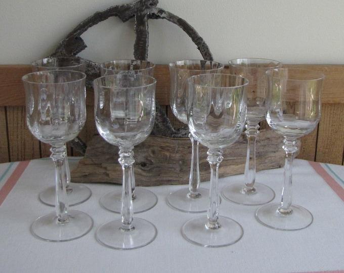Vintage Mikasa Champagne Glasses Seville 1977-1987 Set of Eight (8)