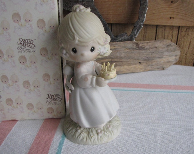 Precious Moments May Your Birthday Be A Blessing Figurine 1992