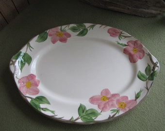 Franciscan Desert Rose Platter England Back Stamp 1976 - 1984 Hand Painted Vintage Dinnerware and Replacements