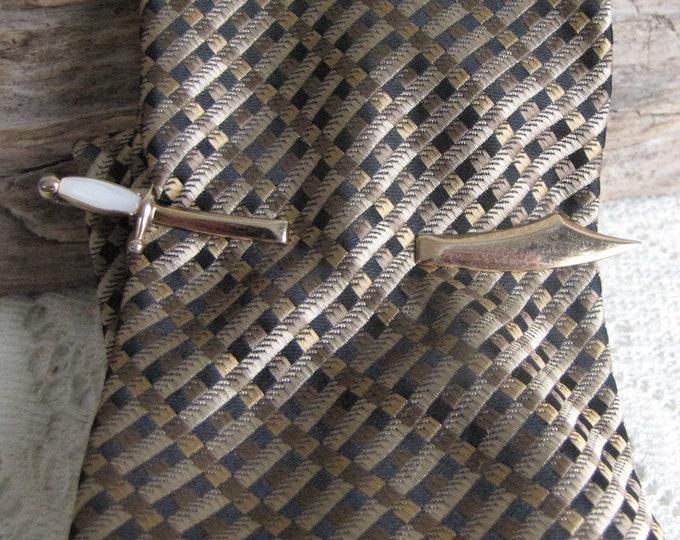 Swank Magic Blades Tie Clip Scimitar Vintage Men's Jewelry and Accessories