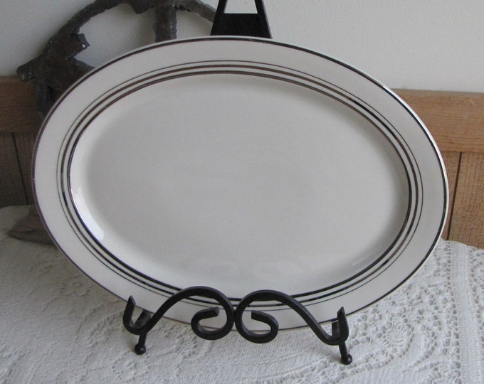Vintage Syracuse China Old Ivory Meat Platter Nimbus Gold Trimmed 1949-1967 Dinneware