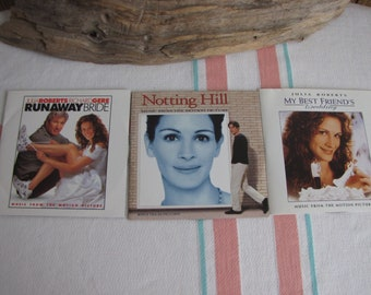 Julia Roberts Movie Soundtrack CDs Set of 3 Vintage Music and Soundtracks