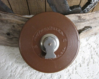Lufkin Tape Measure 50 Ft. Leather Cased Vintage Tools and Measuring Units