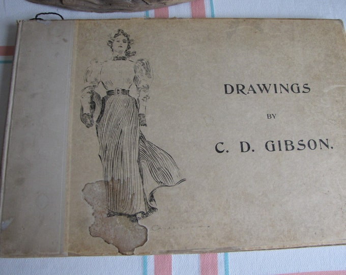 Drawings of C.D. Gibson 1894 Vintage Illustrations
