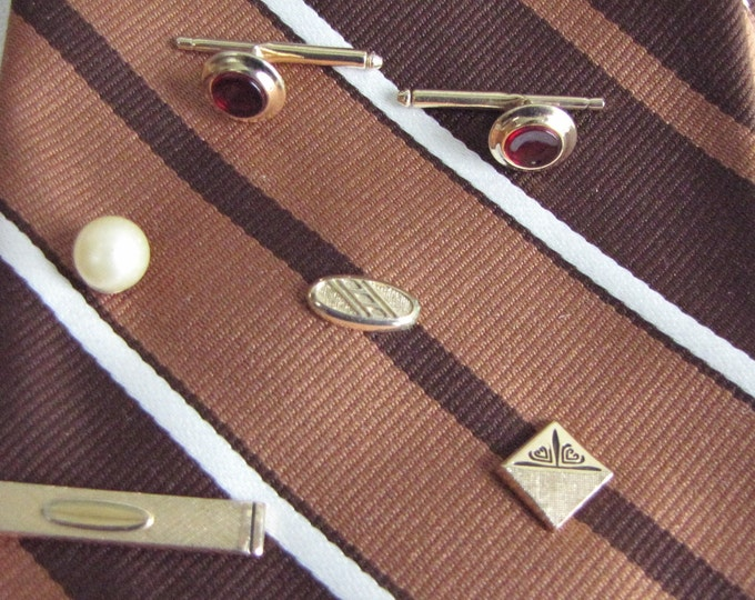 Tie pin lot 6 pieces Vintage Men's Jewelry and Accessories