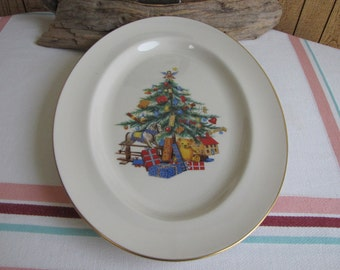 Vintage Pickard Christmas tree platter Dinnerware and Replacements