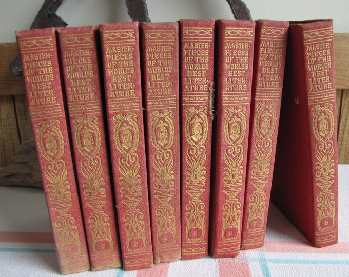 Masterpieces of the World's Best Literature 8 Volumes 1910 Antique Book Sets