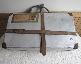 Aluminum Freight Box Vintage Luggage and Shipping Boxes