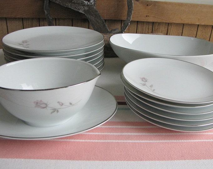 Noritake Pasadena 15 pieces 1962 to 1978 Vintage Dinnerware and Replacements