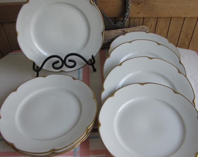 Royal Austrian porcelain luncheon plates set of 8