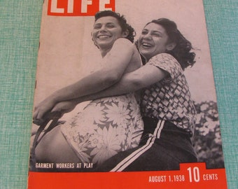 Life Magazines 1938 August 1 Garment Workers At Play Vintage Magazines and Advertising