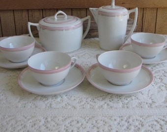 Vista Allegre Pink Tea Set Made in Portugal Vintage Dinnerware and Replacements