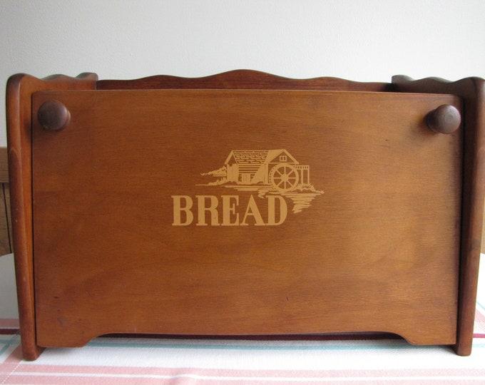 Wooden Bread Box Vintage Bread Boxes and Kitchen Decor Rustic Farmhouse Style