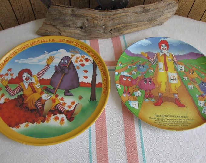 McDonald's Melamine Plates Vintage McDonald's promotional dinner plates set of 2