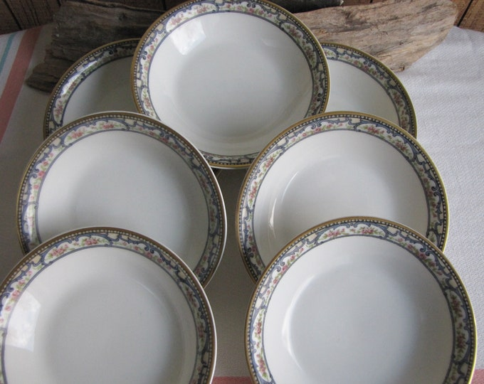 Theodore Haviland 1903 Dessert Bowls Antique Dinnerware and Replacements Set of Seven (7) Small Bowls