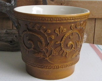 Haeger Pottery Brown Planter Vintage Florist Ware and Home Decor Indoor Plants and Gardens