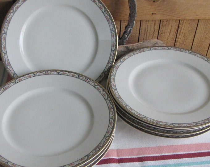 Theodore Haviland 1903 Dinner Plates Antique Dinnerware and Replacements Set of Eight (8)