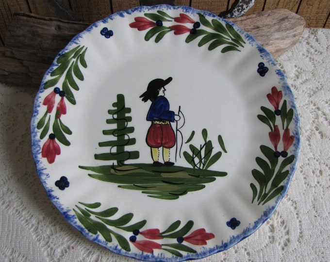 Southern Pottery Blue Ridge French Peasant Pattern Vintage Farmhouse and Rustic Home Décor Plate Walls