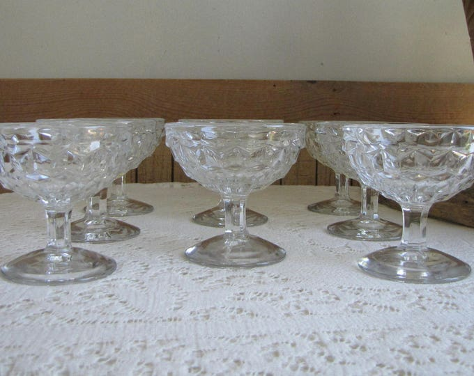 Fostoria American Low Sherbet Cups Vintage Dinnerware Replacements Set of Eight (8) Champagne Glasses