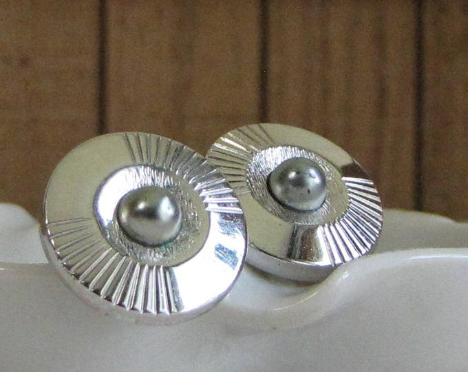 Anson Silver Cuff Links Men's Silver-Toned Vintage Jewelry and Accessories Formal Wear