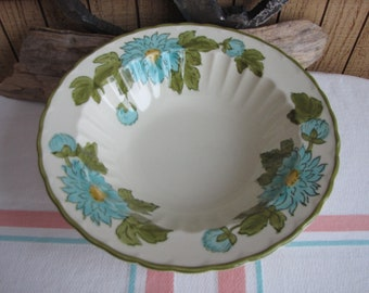 Metlox Blue Fascination Vegetable Bowl Vintage Dinnerware and Replacements