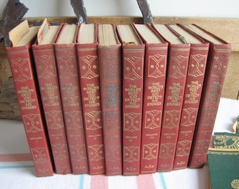 World's Best 100 Detective Stories 10 Volumes 1929 Antique Book Sets