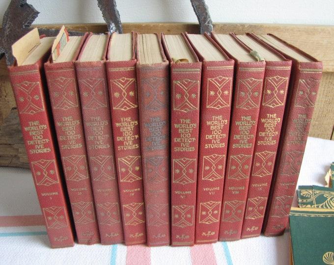 World's Best 100 Detective Stories 10 Volumes 1929 Antique Book Sets