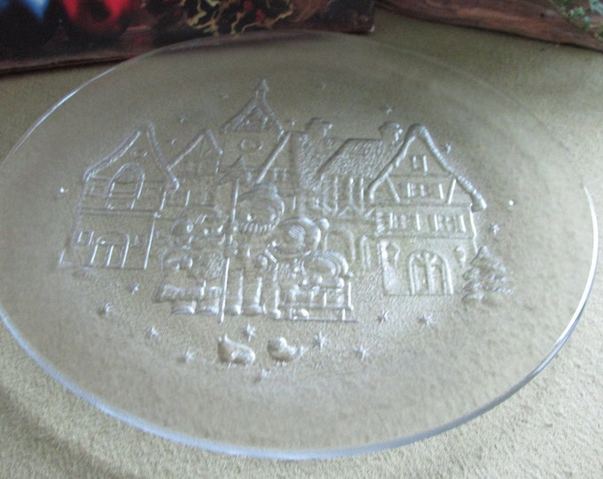 Christmas platters carolers made in Italy