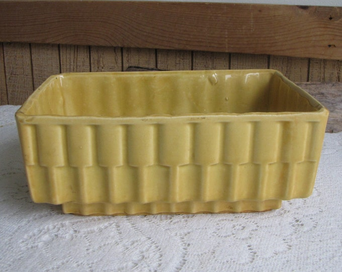 Mustard Yellow Planter Cookson Pottery Vintage Planters and Pots Succulents and Indoor Gardens American Potteries