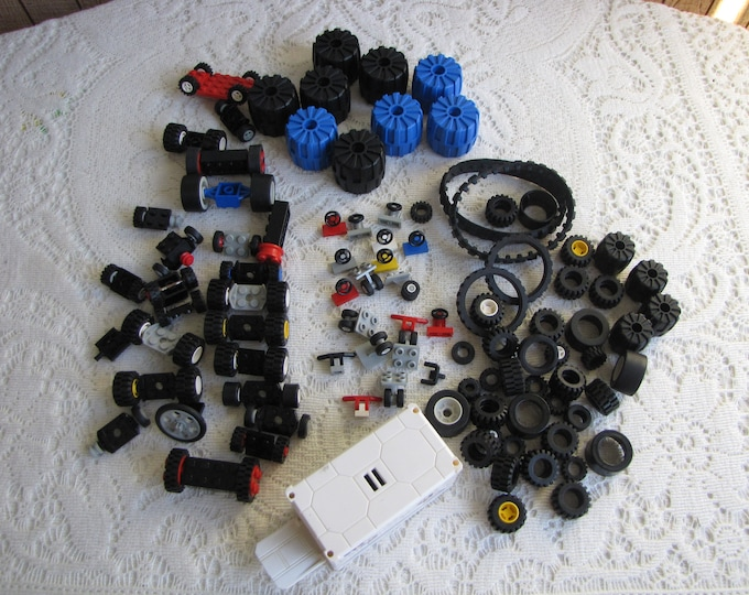 Vintage Lego Bricks Tires and Auto Toys and Building Blocks