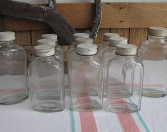 Owens Illinois Aspirin Jars Vintage Jars and Bottles 1929-1951 Eleven (11) Old Jars