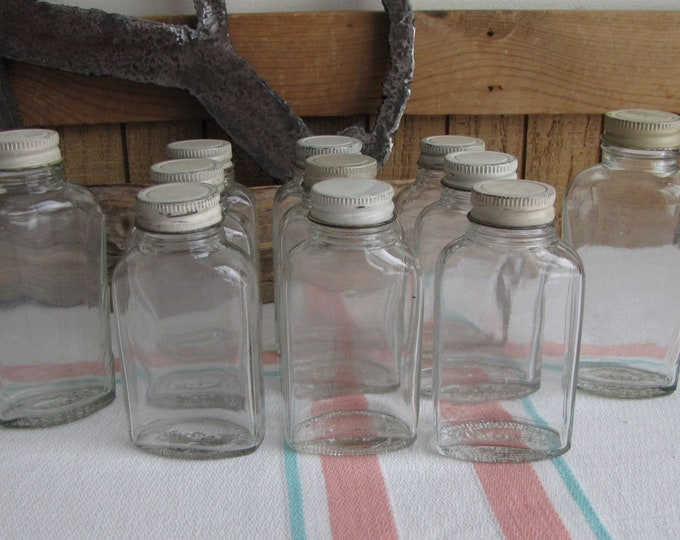 Owens Illinois Aspirin Jars Vintage Jars and Bottles 1929-1951 Eleven (11) Old Jars