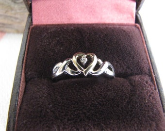 Celtic 10K Gold Heart Ring Vintage Jewelry and Accessories Size 8