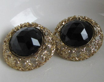 Ellen Designs Earrings Clip On Gold Toned Vintage Jewelry and Accessories