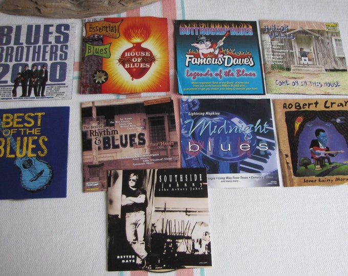 Vintage Blues CDs Lot of 9 Assorted Blues Artists Music and Songs