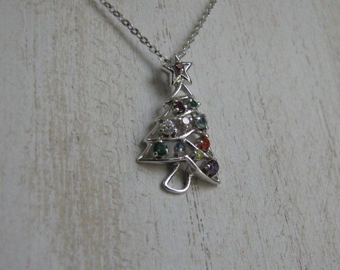 Christmas Tree Necklace Vintage Holiday Jewelry and Accessories