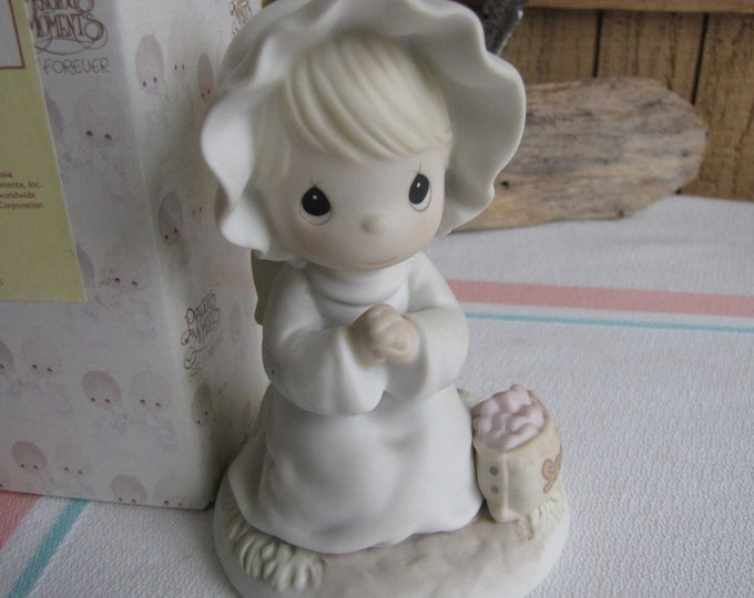 Precious Moments Sowing the Seeds of Kindness Angel Figurine Sailboat Symbol 1995