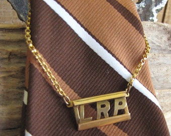 Swank Tie Chain and Initials LRP