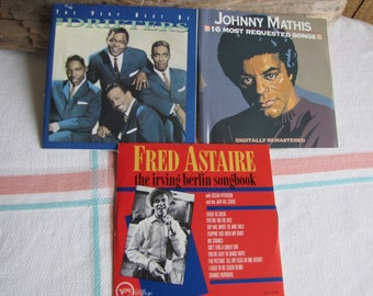 American Songbook 3 CDs Johnny Mathis Irving Berlin The Drifters Vintage Music and Compact Discs