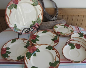 Franciscan Apple dinnerware 11 pieces vintage dinnerware and replacements