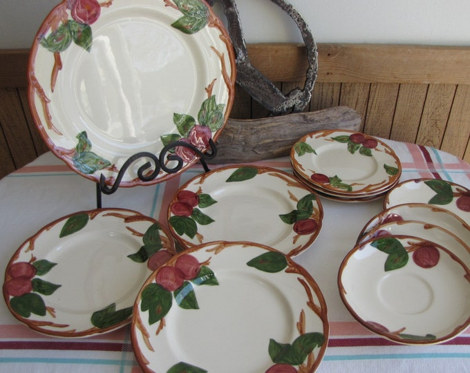 Franciscan Apple Vintage Dinnerware and Replacements Set of Eleven (11) Pieces