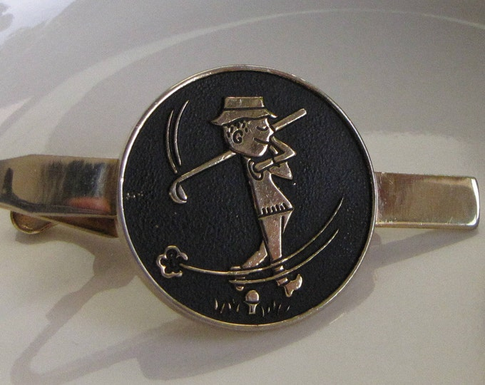 Pioneer Golfer Tie Clip Vintage Men's Jewelry and Accessories