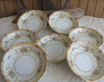 Vintage Noritake Dessert Bowls Dinnerware and Replacements Set of Eight (8) Small Bowls Circa 1930s