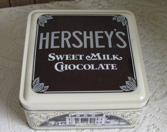 Vintage Hershey Tin 1912 Vintage Edition #1 Replica 1990 Hershey Chocolate