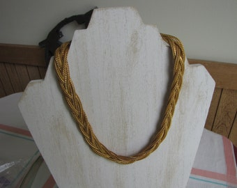 Gold Toned Multi-Strand Choker Vintage Jewelry and Accessories Costume Jewelry