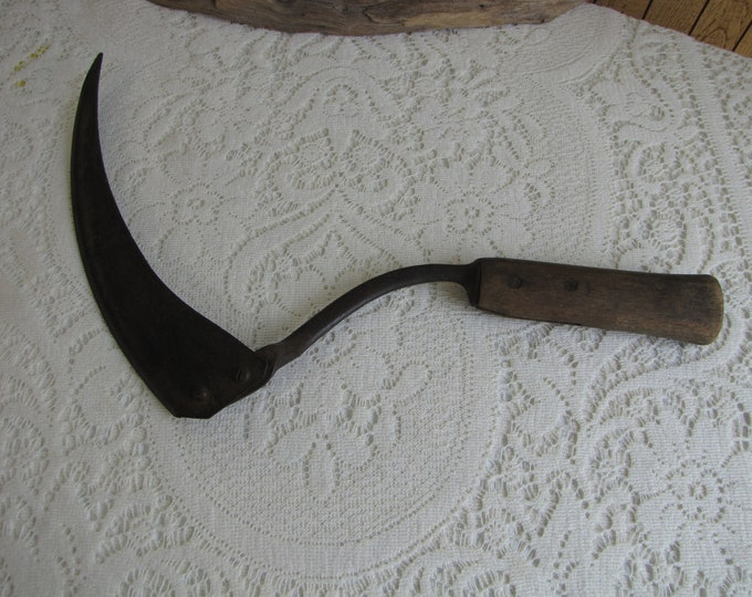 Old Rusty Sickle Vintage Farmhouse Rustic Salvage and Tools