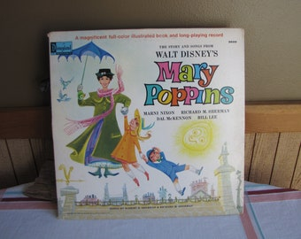 Mary Poppins Vinyl Record 1964 Vintage Disney and Music Soundtrack